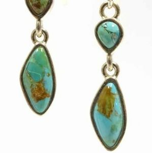 Barse Sterling and Turquoise Dangle Earrings